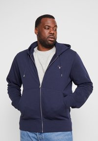 GANT - THE ORIGINAL FULL ZIP HOODIE - Zip-up hoodie - evening blue - 0