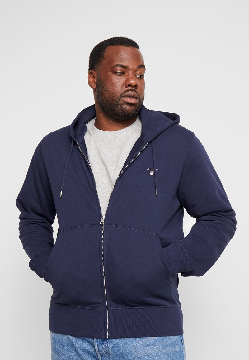 GANT - THE ORIGINAL FULL ZIP HOODIE - Zip-up hoodie - evening blue