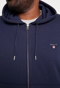 GANT - THE ORIGINAL FULL ZIP HOODIE - Zip-up hoodie - evening blue - 5