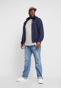 GANT - THE ORIGINAL FULL ZIP HOODIE - Zip-up hoodie - evening blue - 1