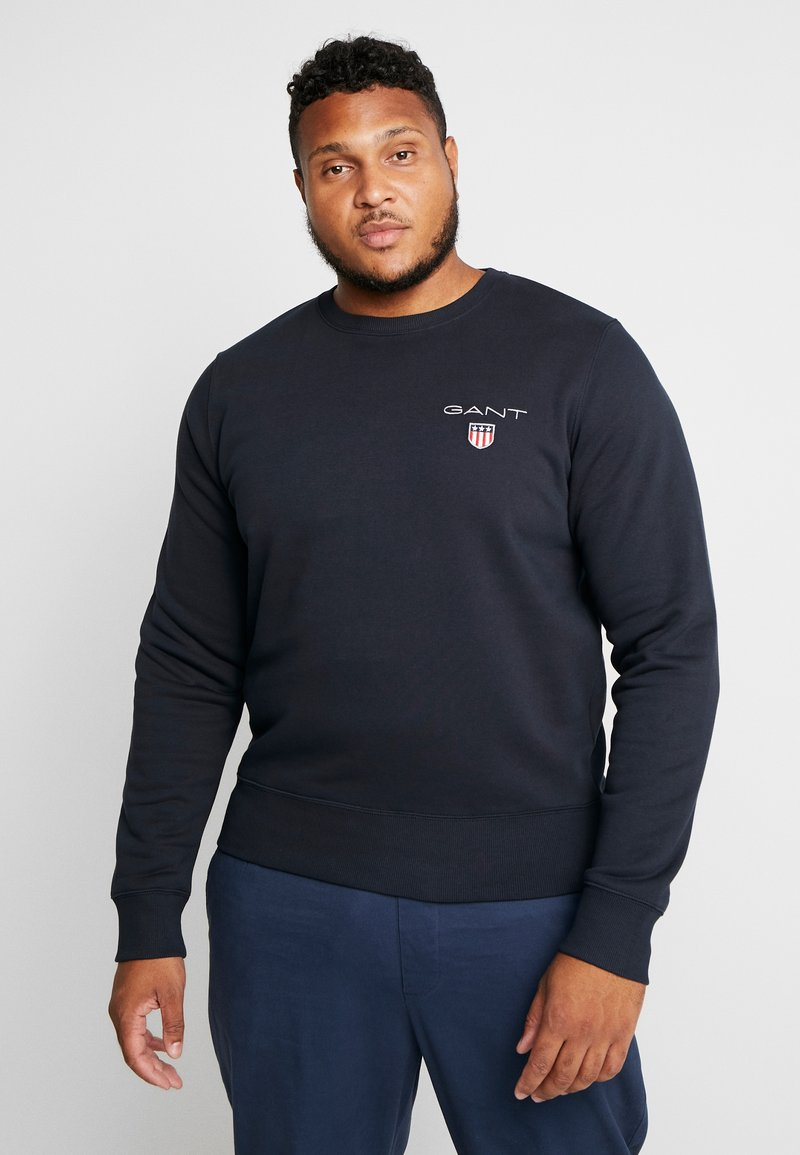 GANT - MEDIUM SHIELD CREW - Sweatshirt - black