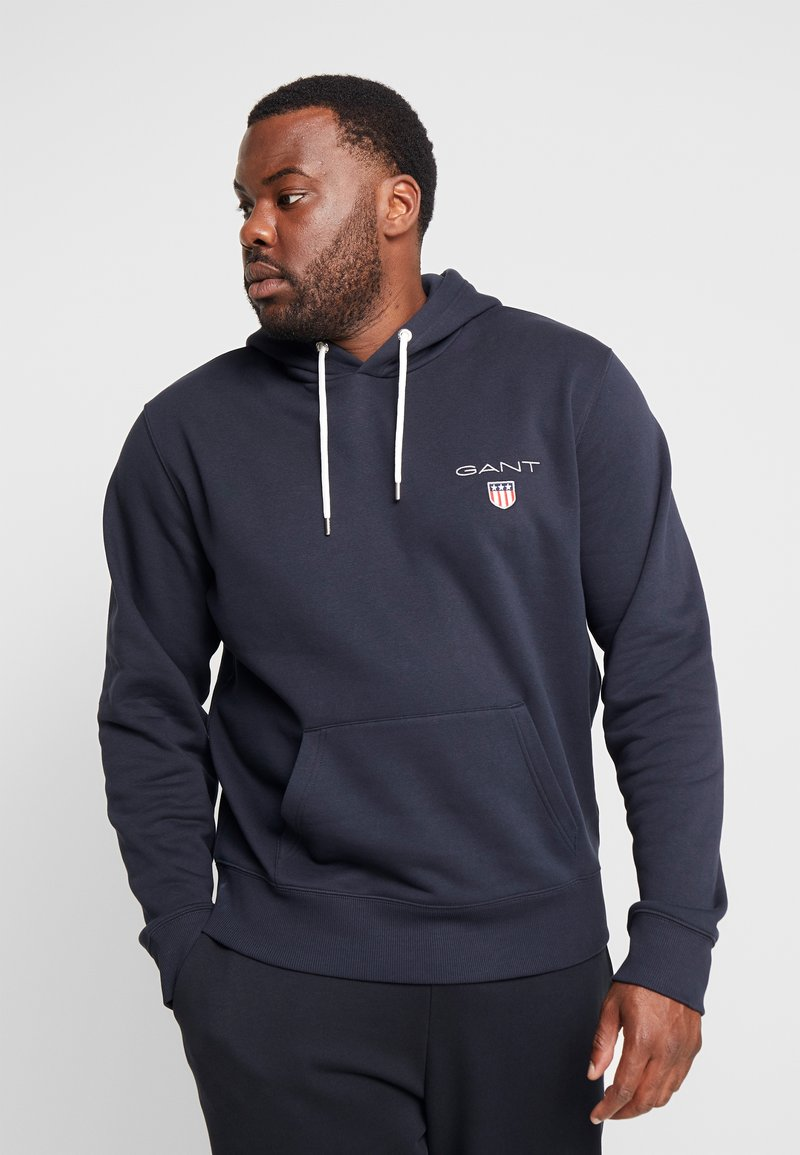 GANT - MEDIUM SHIELD HOODIE - Hoodie - black