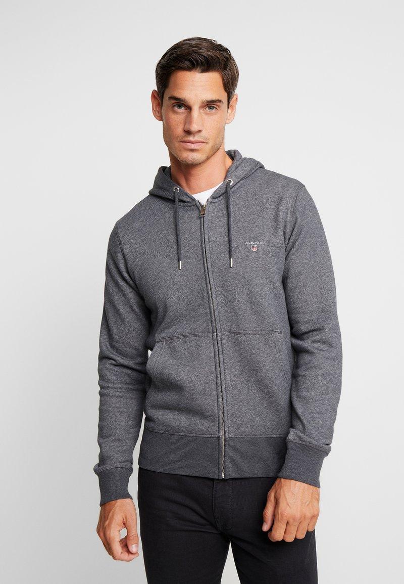 GANT - THE ORIGINAL FULL ZIP HOODIE - Zip-up hoodie - antracit melange
