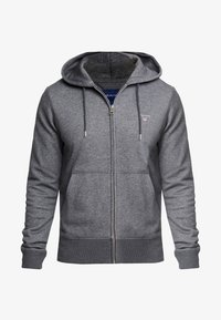 GANT - THE ORIGINAL FULL ZIP HOODIE - Mikina na zip - antracit melange