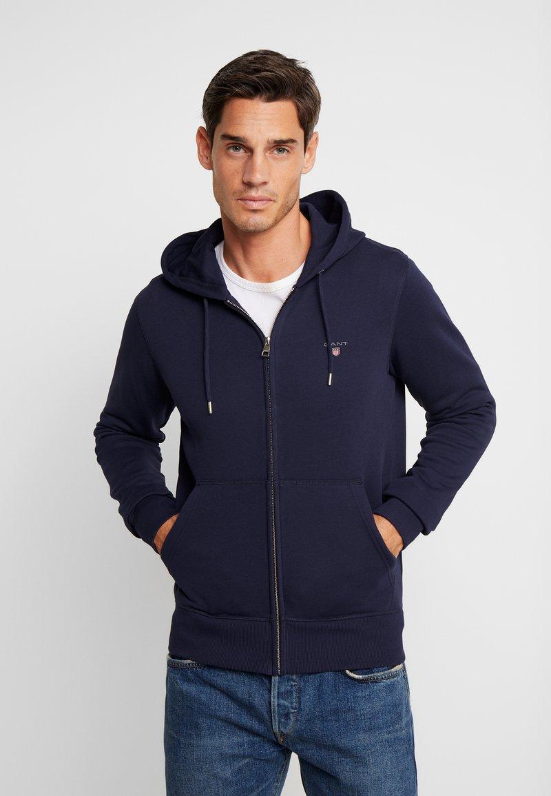 GANT - THE ORIGINAL FULL ZIP HOODIE - Zip-up hoodie - evening blue