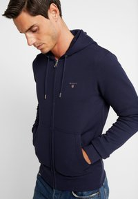 GANT - THE ORIGINAL FULL ZIP HOODIE - Zip-up hoodie - evening blue - 5
