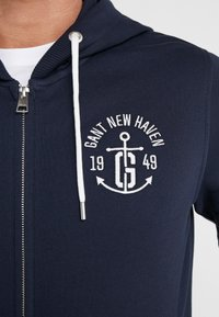 GANT - ANCHOR FULL ZIP HOODIE - veste en sweat zippée - evening blue - 6