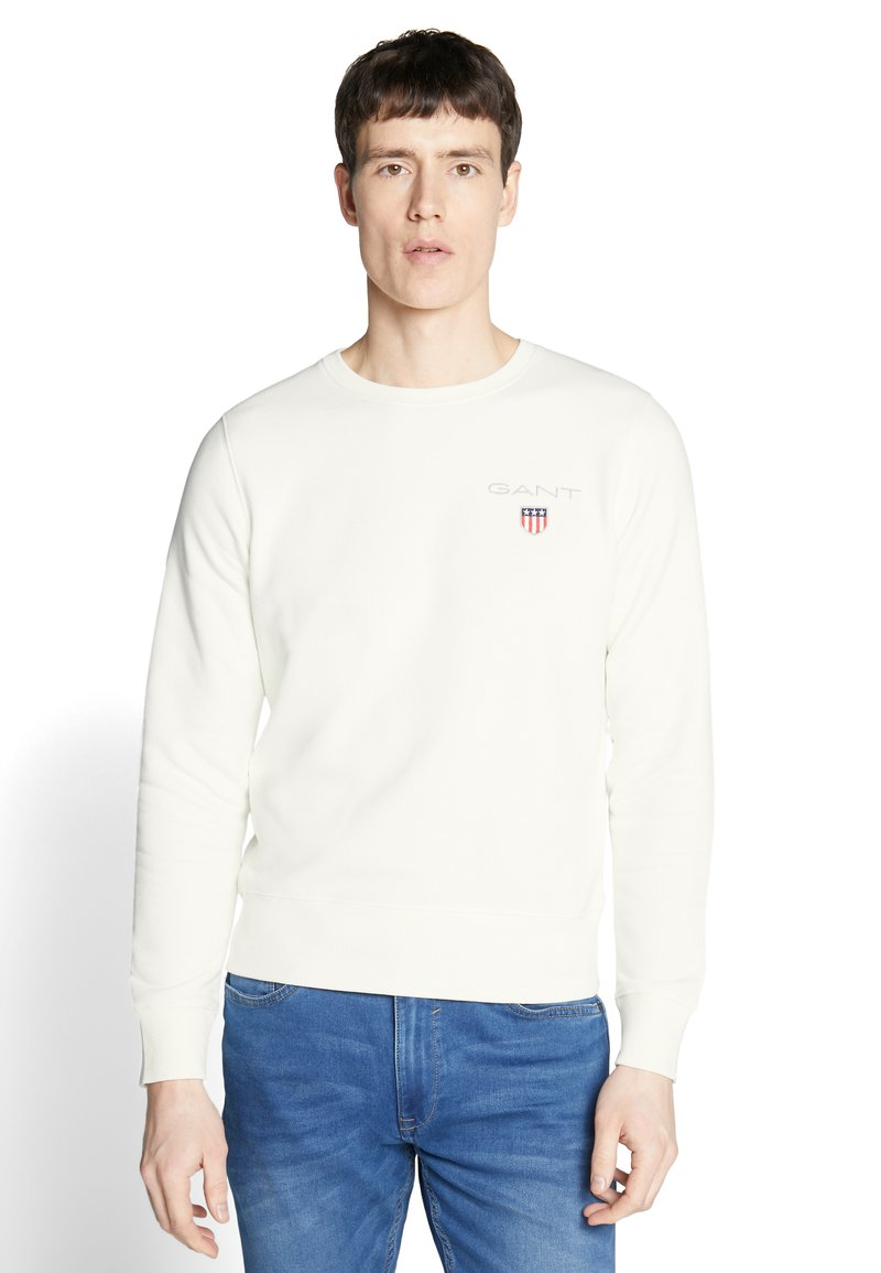 GANT - MEDIUM SHIELD CREW - Sweatshirt - eggshell