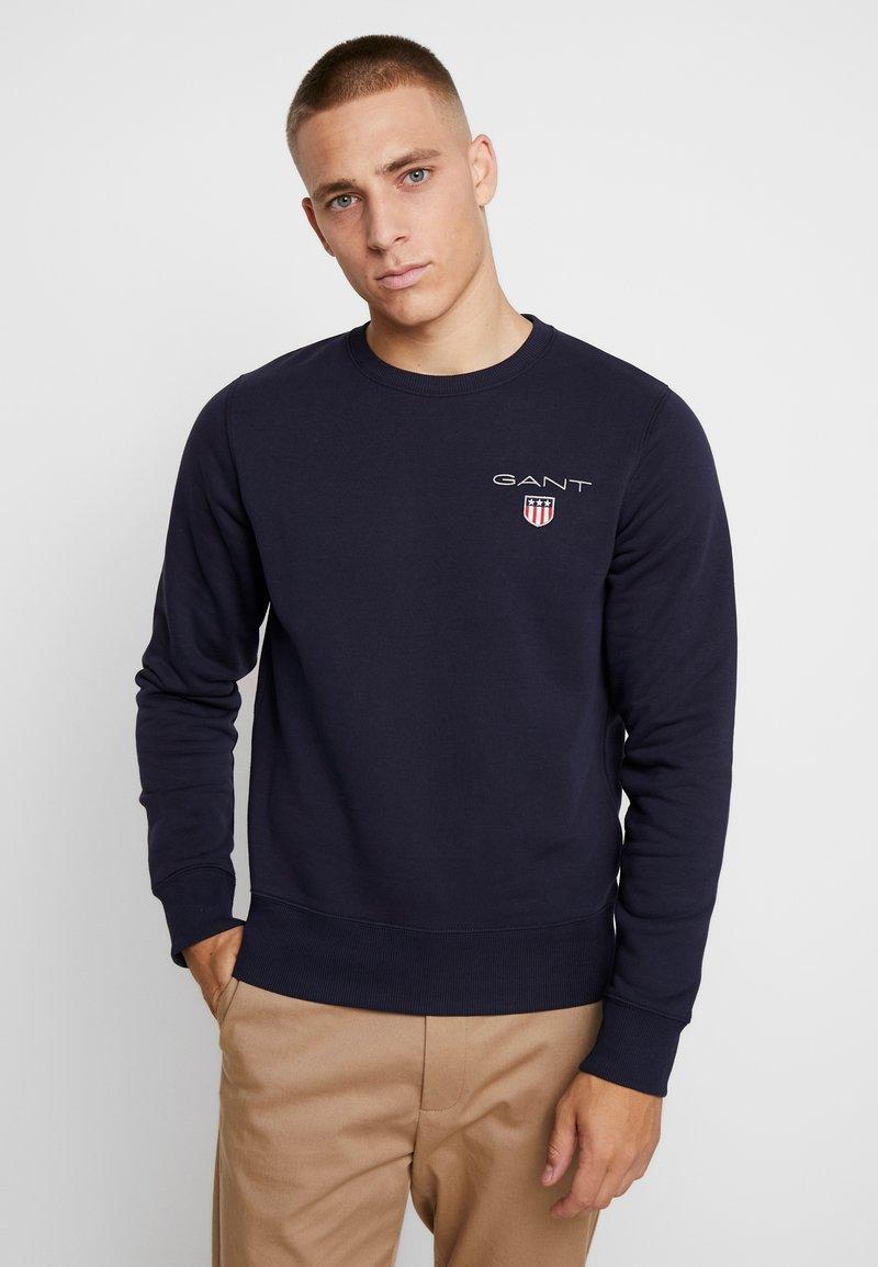 GANT - MEDIUM SHIELD CREW - Sweatshirt - evening blue