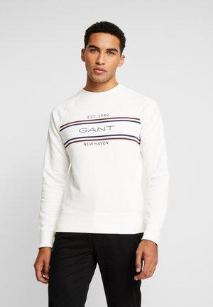 STRIPE NECK  - Sweater - eggshell