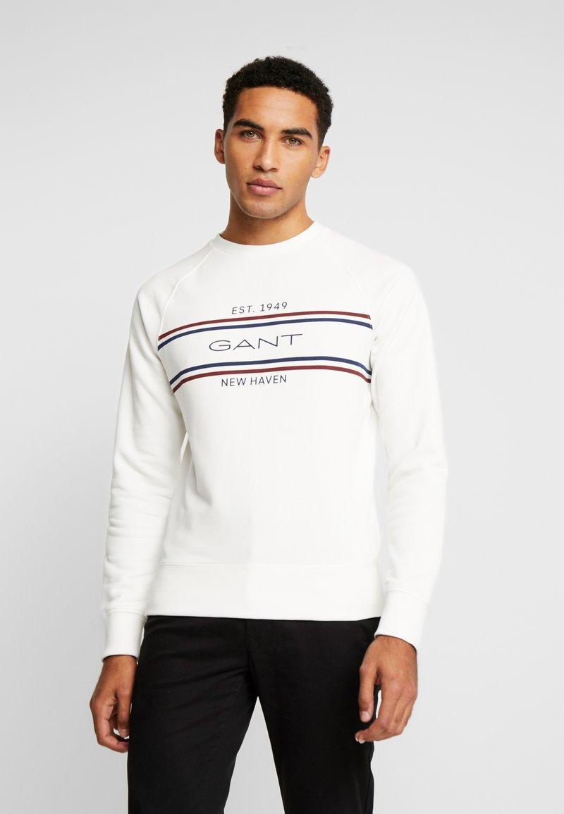 GANT - STRIPE NECK  - Sweatshirt - eggshell