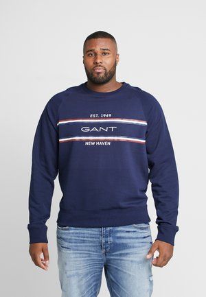 PLUS STRIPE  - Sweatshirt - evening blue