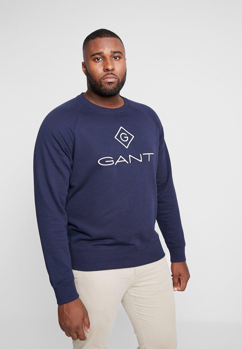 GANT - PLUS LOCK UP NECK  - Sweatshirt - evening blue