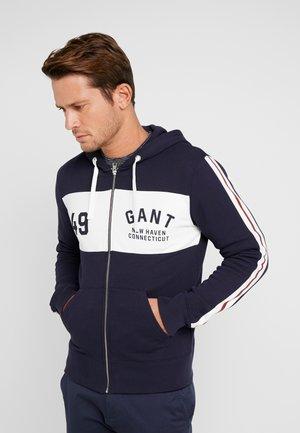 LOGO HOODIE - veste en sweat zippée - evening blue