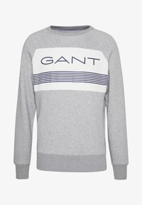 GANT - STRIPE C-NECK - Sweatshirt - grey melange - 4