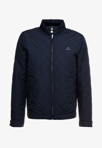 GANT - THE QUILTED WINDCHEATER - Allvädersjacka - evening blue