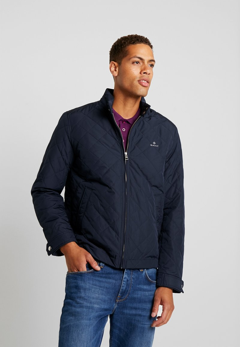 GANT - THE QUILTED WINDCHEATER - Chaqueta de entretiempo - evening blue