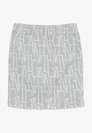 ALLOVER SKIRT - Minisukně - light grey melange