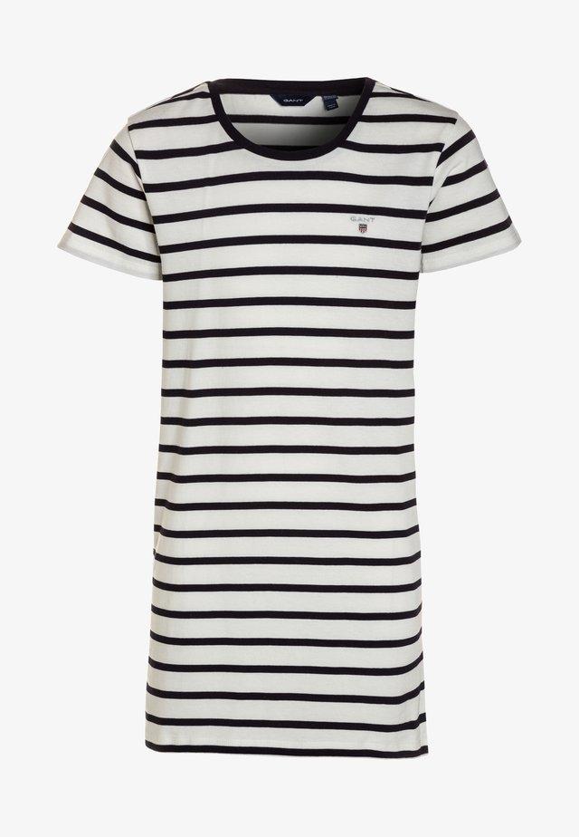 BRETON STRIPED DRESS - Jerseyklänning - eggshell