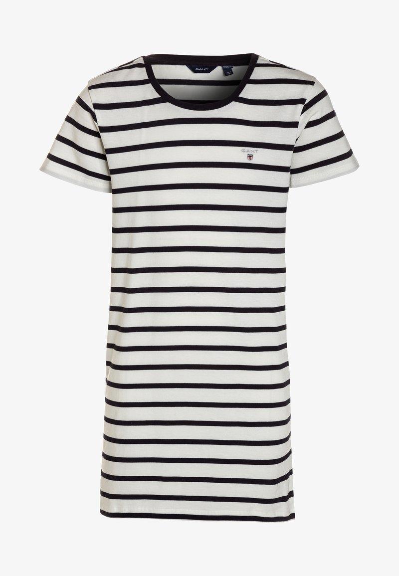 GANT - BRETON STRIPED DRESS - Jersey dress - eggshell