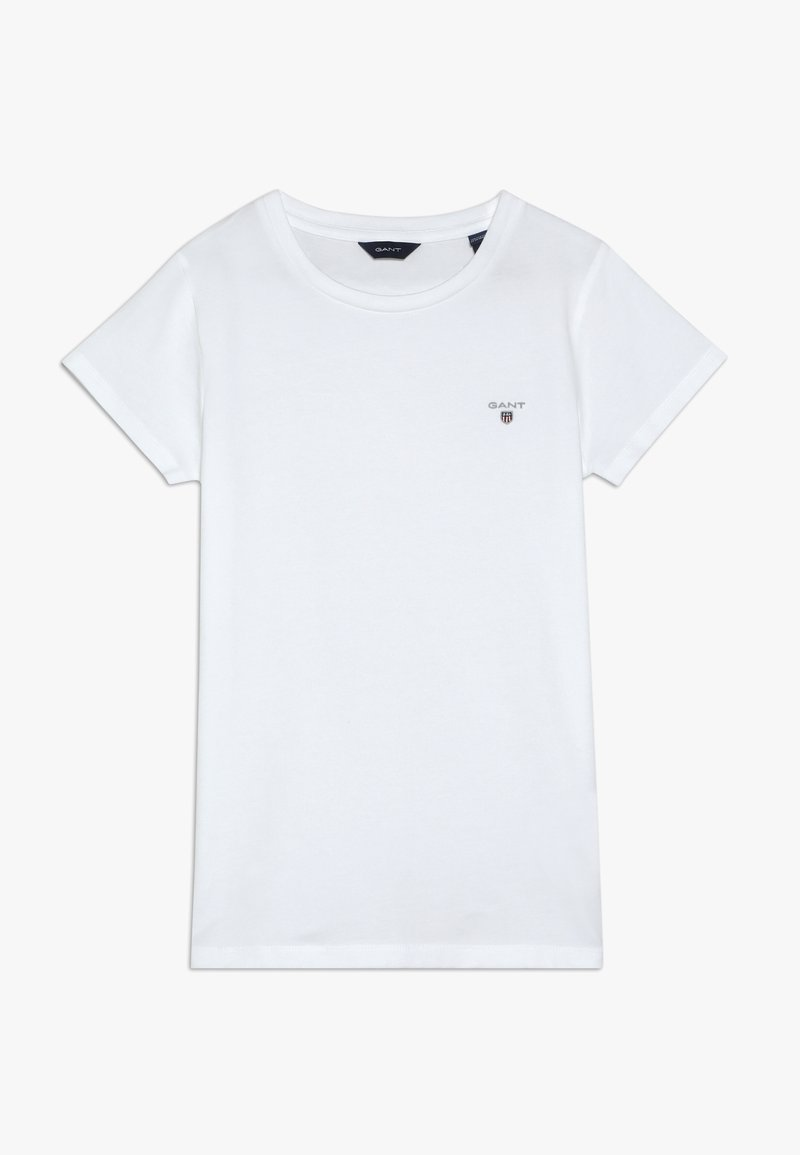 GANT - THE ORIGINAL FITTED - Jednoduché triko - white