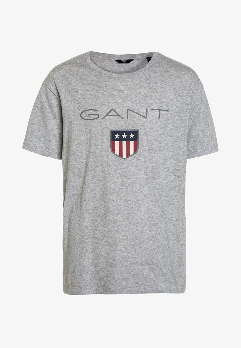 GANT - SHIELD LOGO  - T-shirt med print - light grey melange