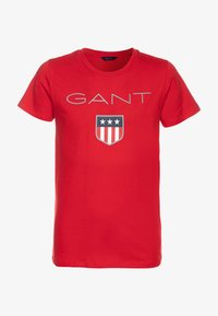 GANT - SHIELD LOGO  - Triko s potiskem - bright red - 0
