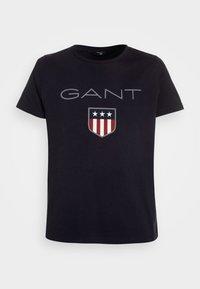 GANT - SHIELD LOGO  - T-shirt med print - evening blue - 0