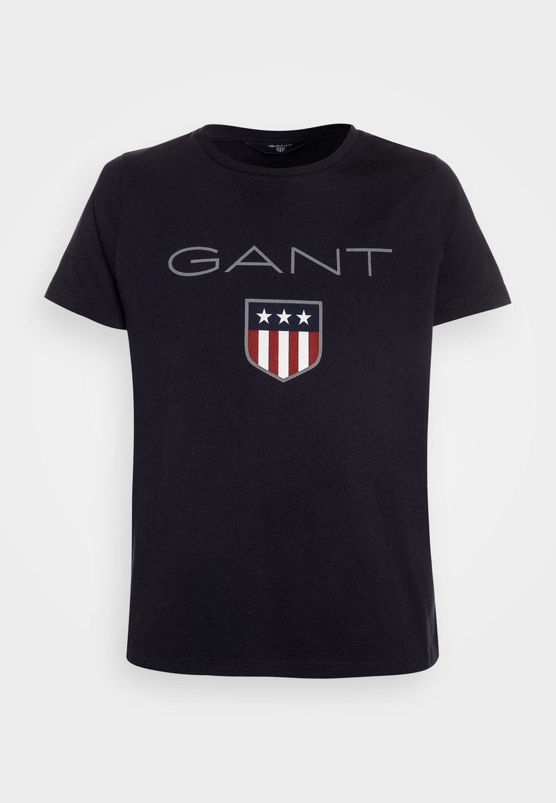 GANT - SHIELD LOGO  - Print T-shirt - evening blue