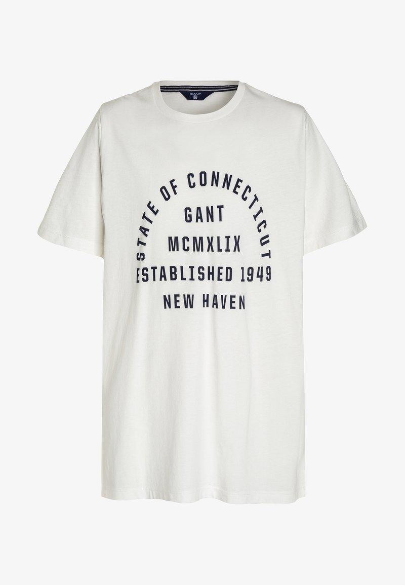 GANT - COLLEGIATE PRINT - T-shirt med print - offwhite