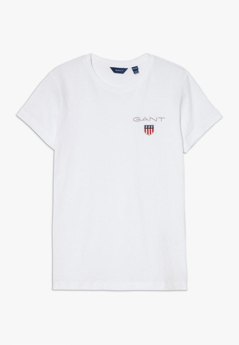 GANT - MEDIUM SHIELD  - T-paita - white