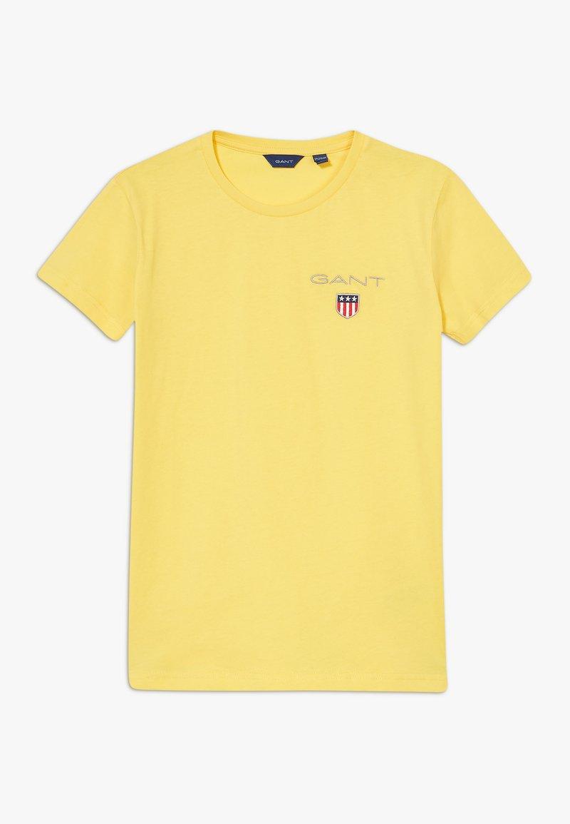 GANT - MEDIUM SHIELD  - Jednoduché triko - mimosa yellow