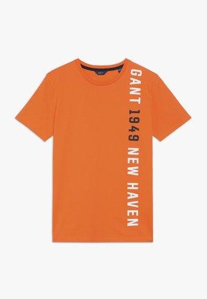 Camiseta estampada - sunny orange