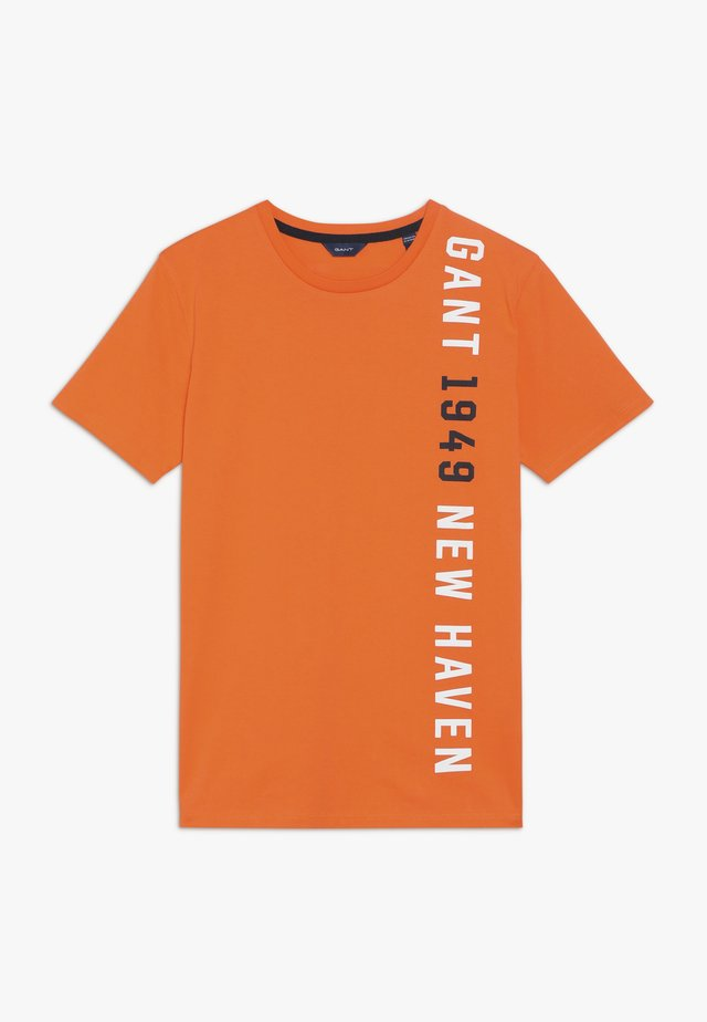 T-shirt med print - sunny orange
