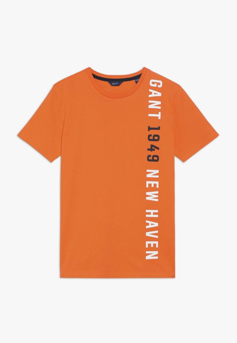 GANT - Triko spotiskem - sunny orange