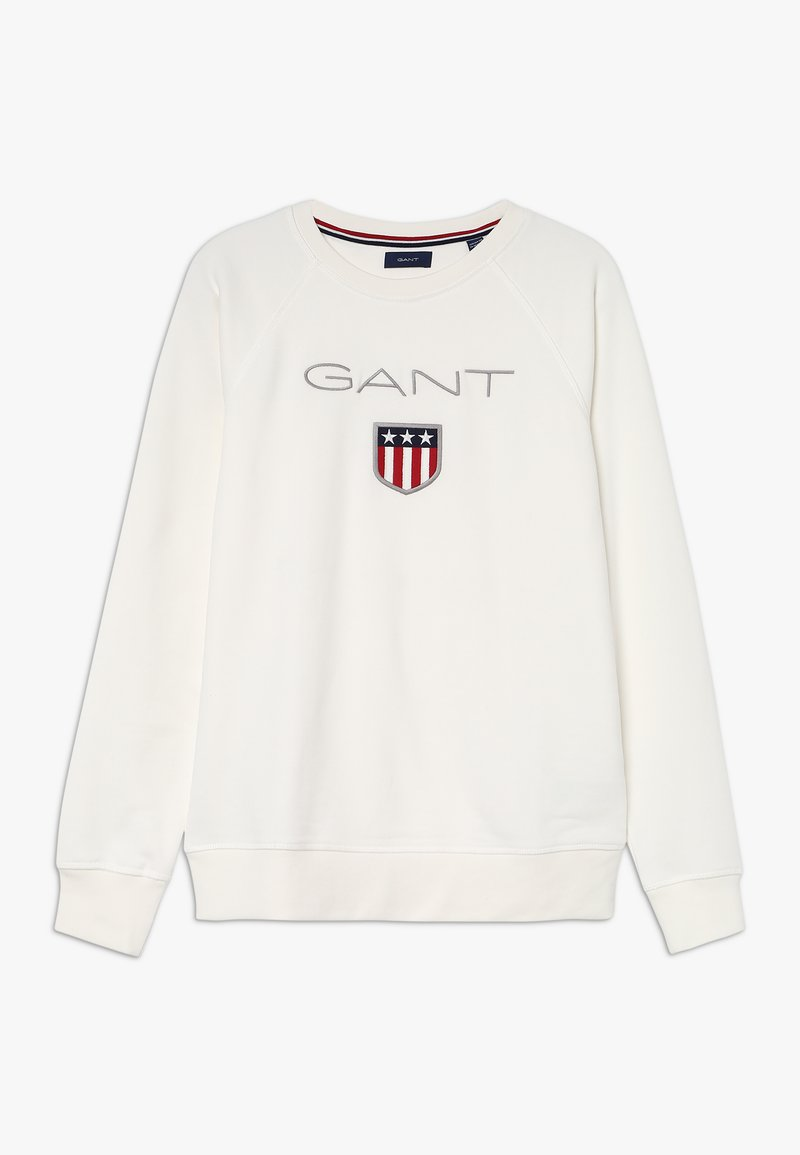 GANT - SHIELD LOGO NECK - Sweatshirts - eggshell