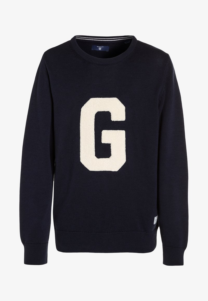 GANT - TERRY CREW - Strickpullover - blue