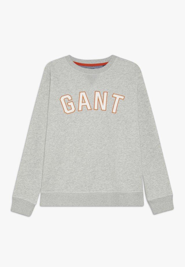 CASUAL C-NECK - Sweatshirt - light grey melange