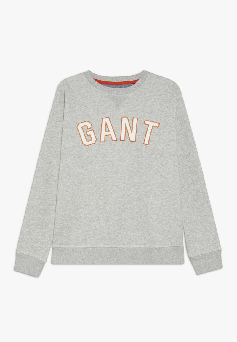 GANT - CASUAL C-NECK - Sweater - light grey melange