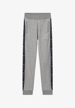 LOCK UP STRIPE - Pantalon de survêtement - light grey melange