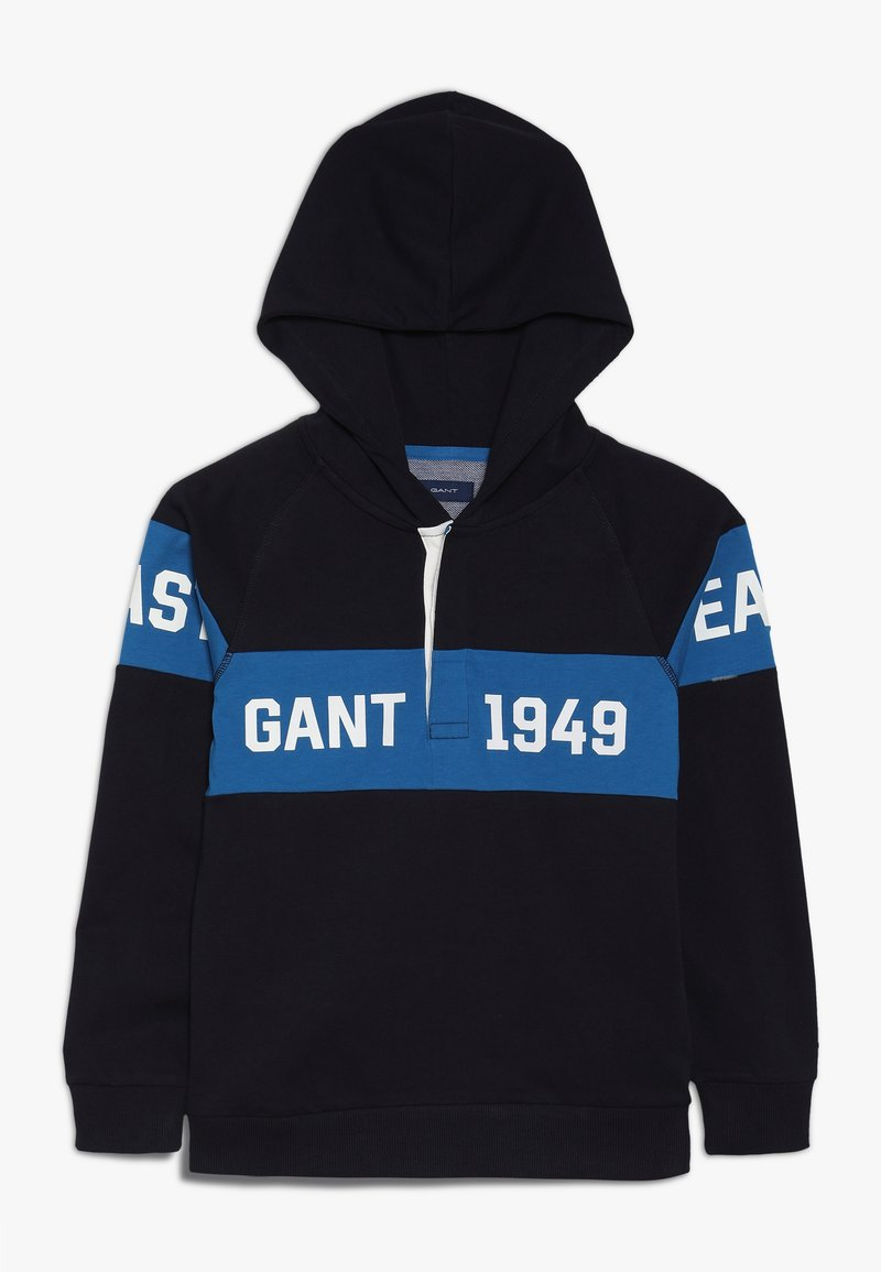 GANT - CHEST STRIPE - Hoodie - evening blue