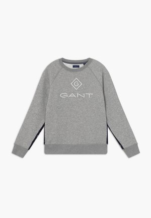 LOCK UP STRIPE C-NECK - Sweatshirt - light grey melange