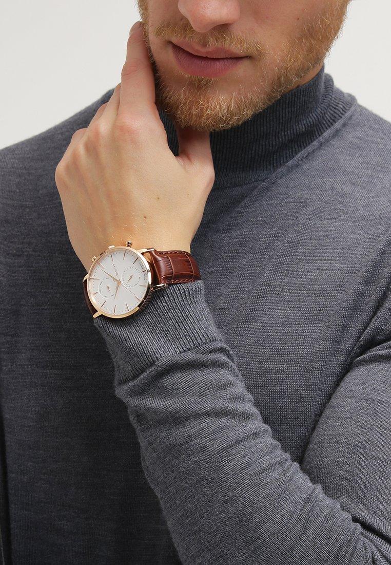 GANT - PARK HILL - Watch - roségoldfarben/braun