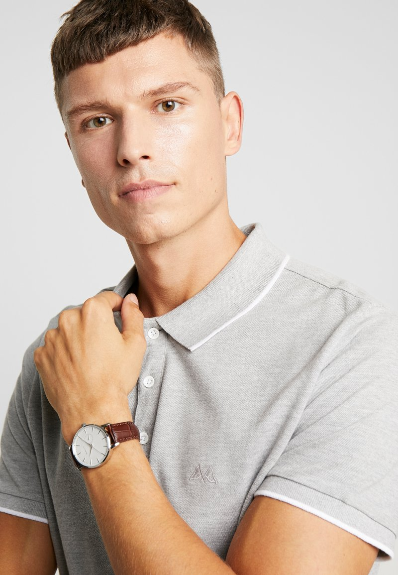 GANT - PARK HILL  - Reloj - silver/white/brown