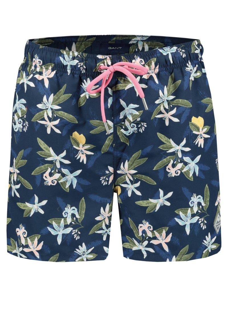 GANT - LEMON FLOWER - Swimming shorts - blau (51)