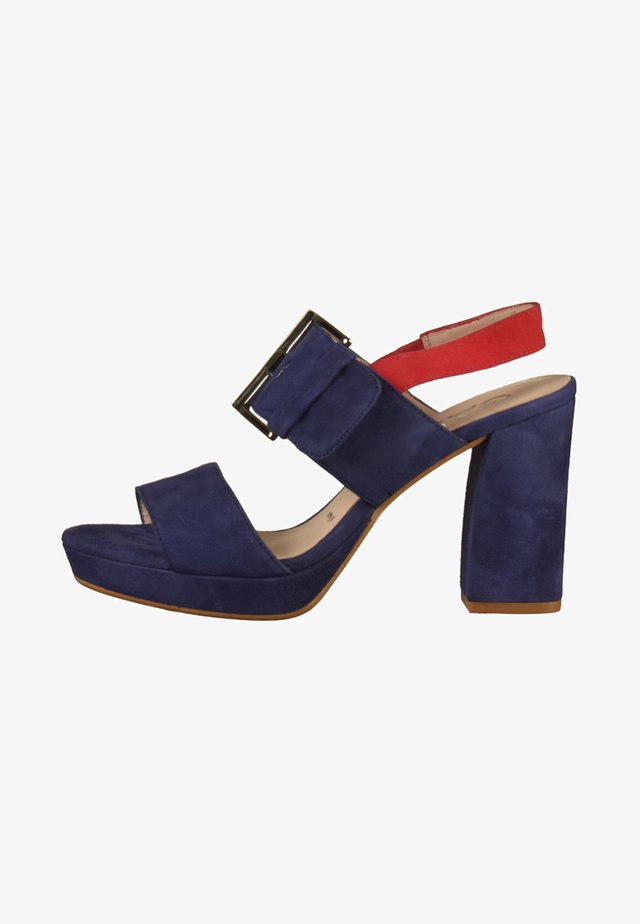 High Heel Sandalette - blue