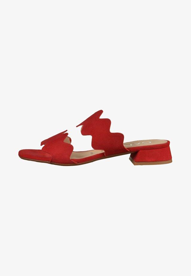 Pantolette flach - red