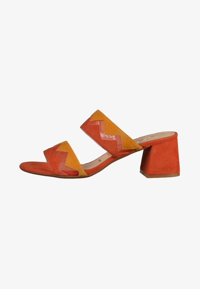 Pantolette hoch - orange