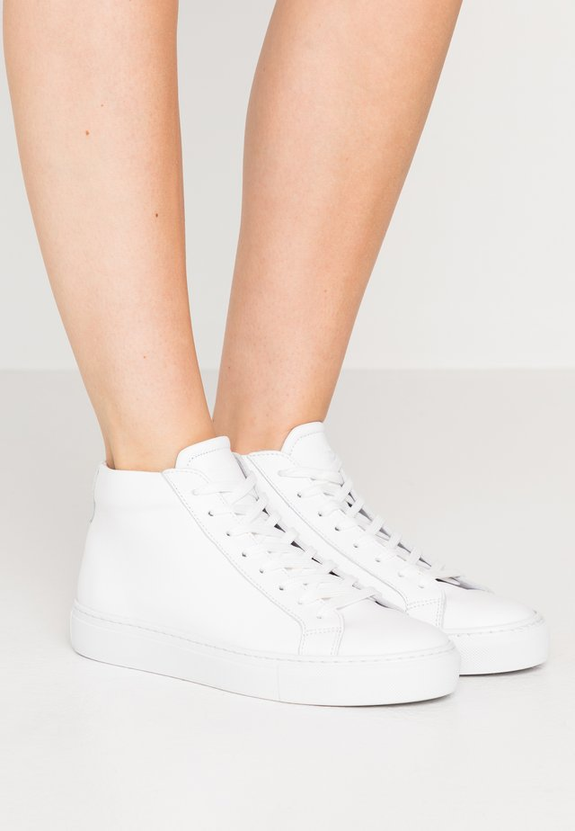 TYPE MID SLIM SOLE - Korkeavartiset tennarit - white/light grey