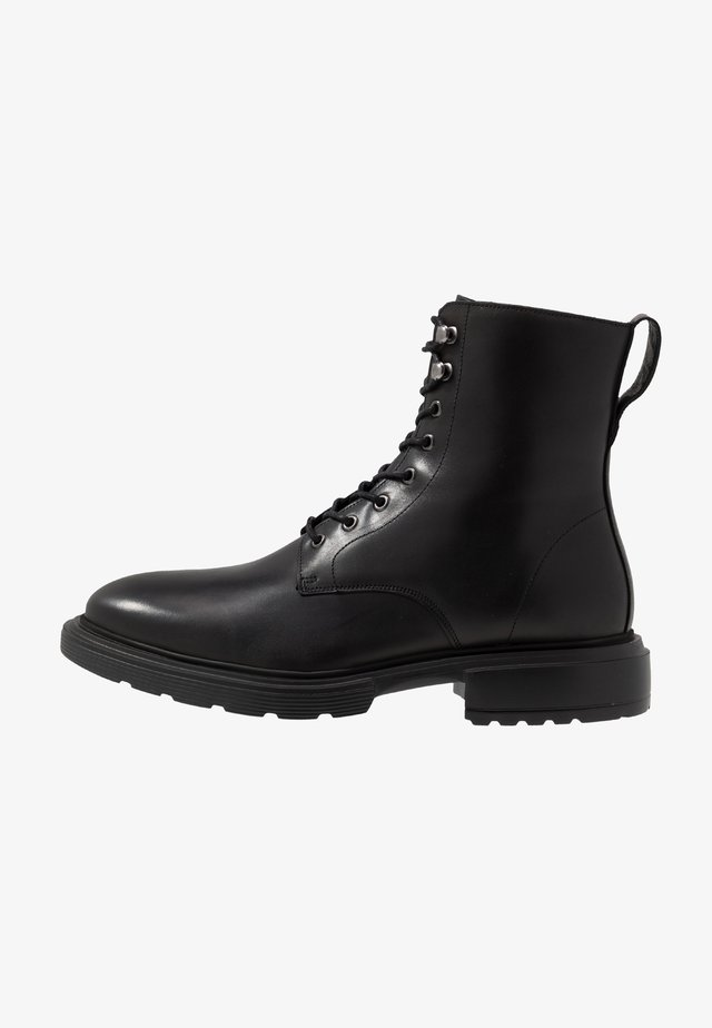 MILI LACE BOOT - Šněrovací kotníkové boty - black